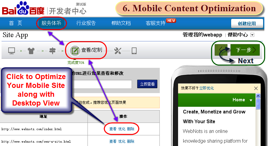 Mobile Content Optimization