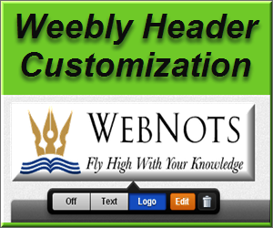 How to Customize Page Header in Weebly?