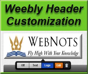 Weebly Header Customization