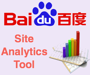 Baidu Site Analytics Tools