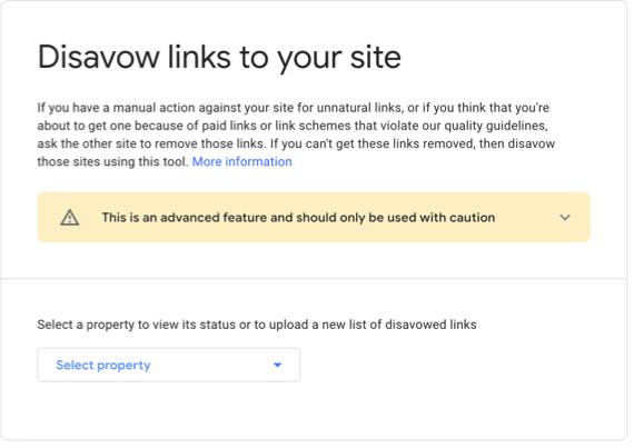 Choose Website Property