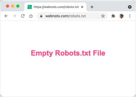 Empty Robots Text File