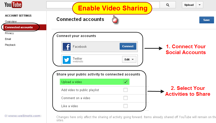 Enable Video Sharing