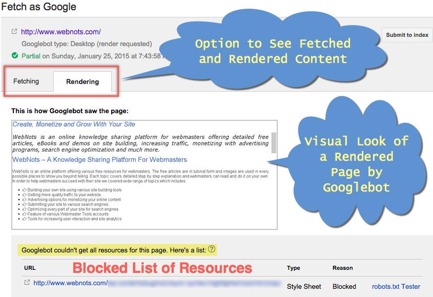 Fetch and Render as Googlebot