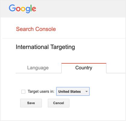 International Country Targeting