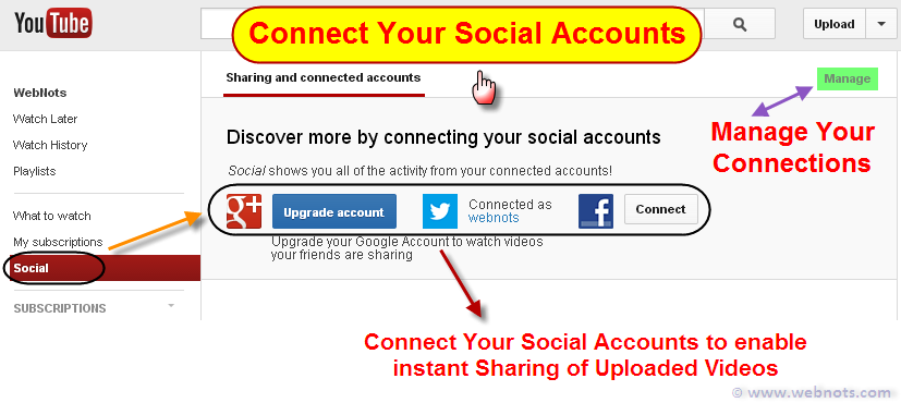 Link Your Social Accounts