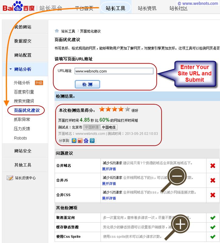 Советы по оптимизации страницы Baidu