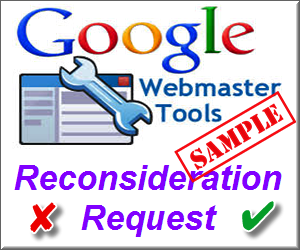 Example Google Reconsideration Request and Response