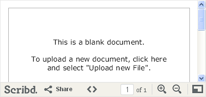 Scribd Document Upload in Weebly