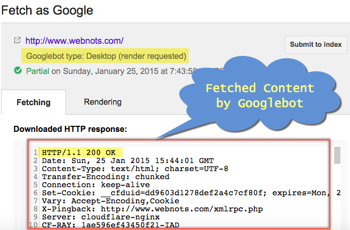 Status of Fetch as Google