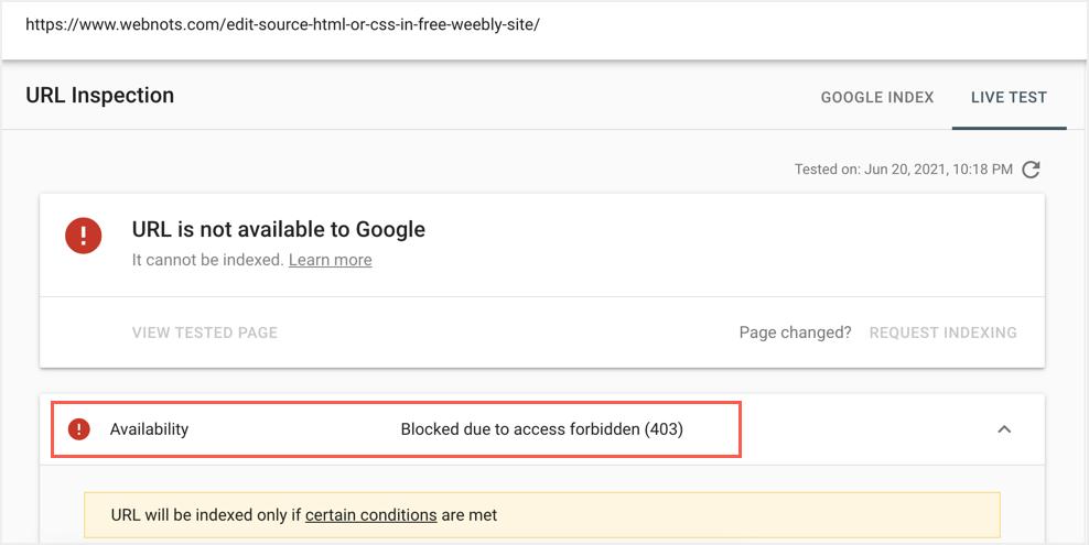 URL is Blocked