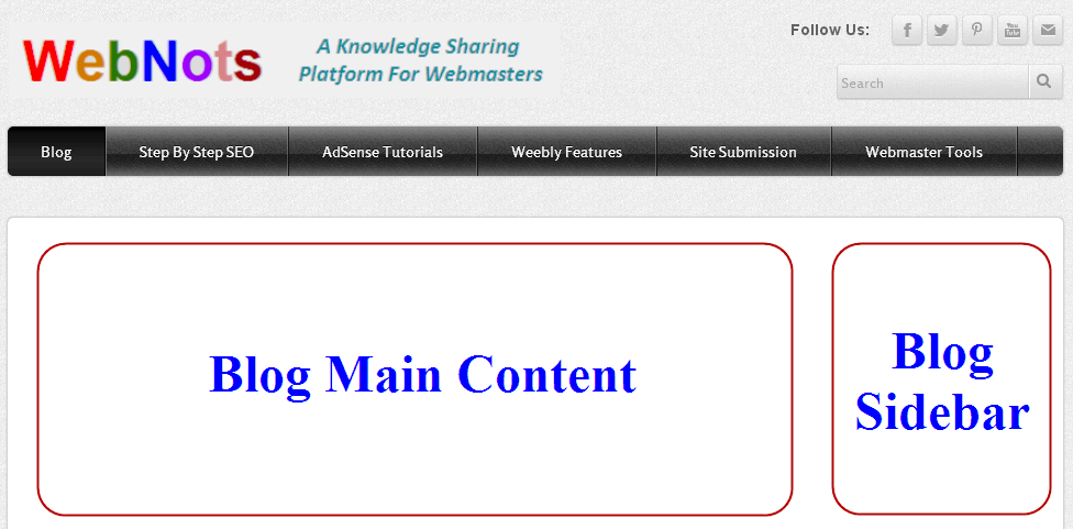 Weebly Blog Layout