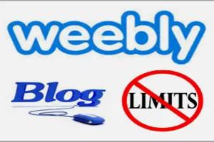 Weebly Blog Limitations