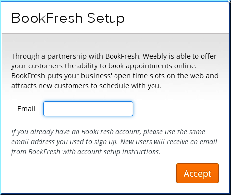 Weebly - BookFresh Online Bookings