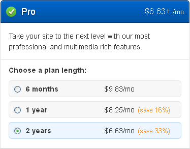Weebly Pro Pricing for Different Plans