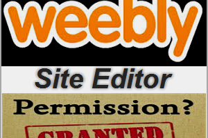 Weebly Site Editor Permissions