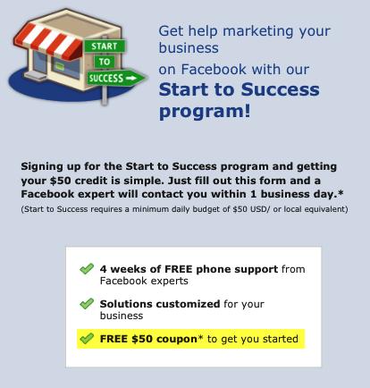 Facebook ad coupon code generator