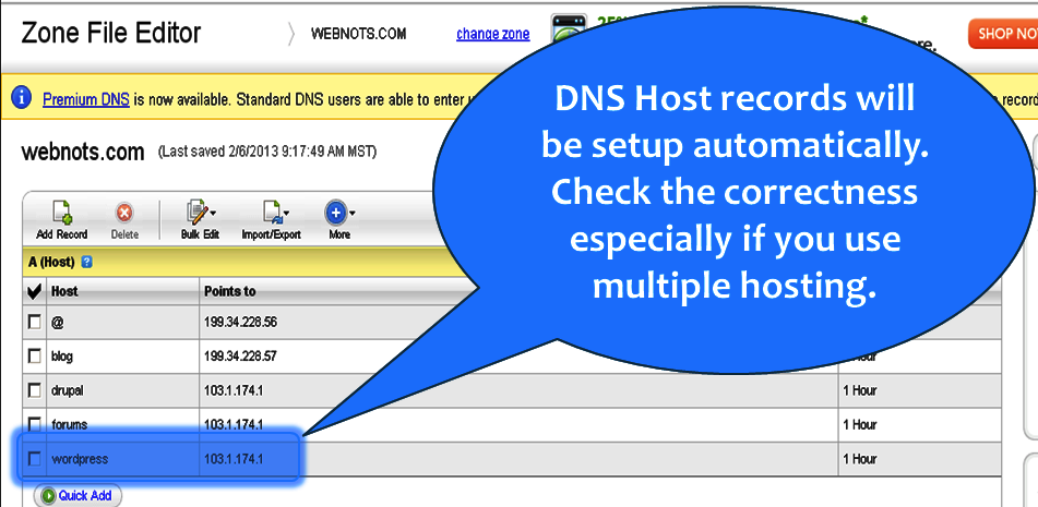 Check DNS Entries in GoDaddy