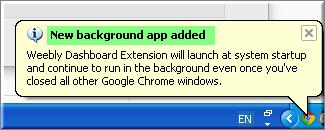 Уведомление Chrome