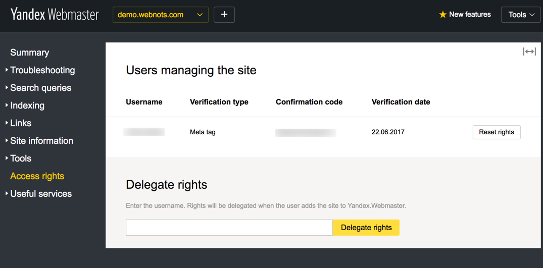 Revoking Verification Access in Yandex