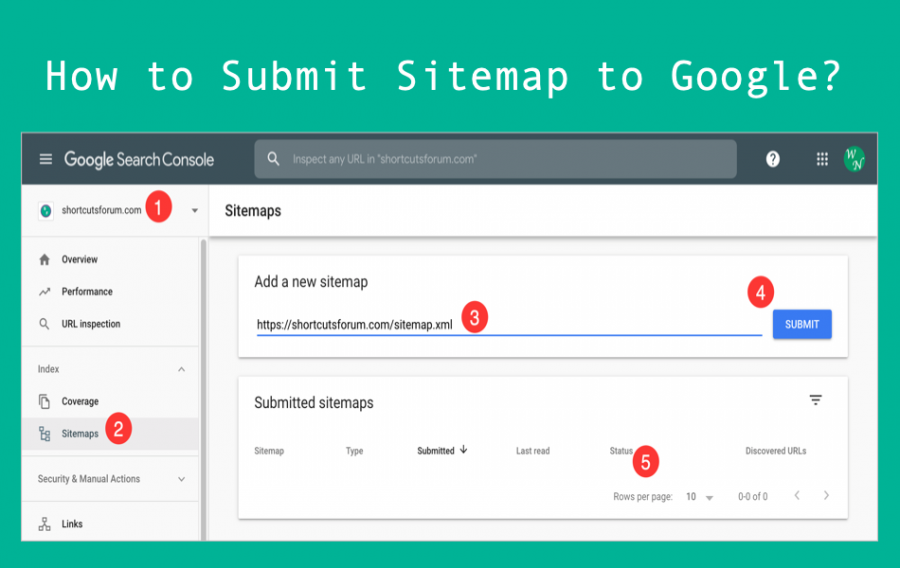 How to Submit Sitemap to Google in Search Console?