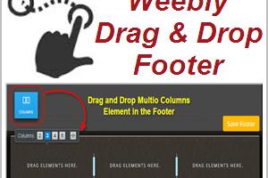 Multicolumn Drag & Drop Free Weebly Footer