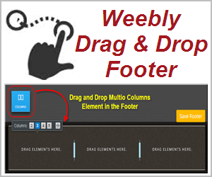 Add multicolumn drag and drop footer in free weebly site for Weebly drag and drop templates