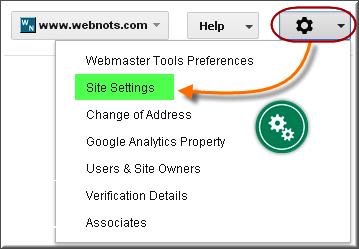 Новый Google WMT - Настройки сайта