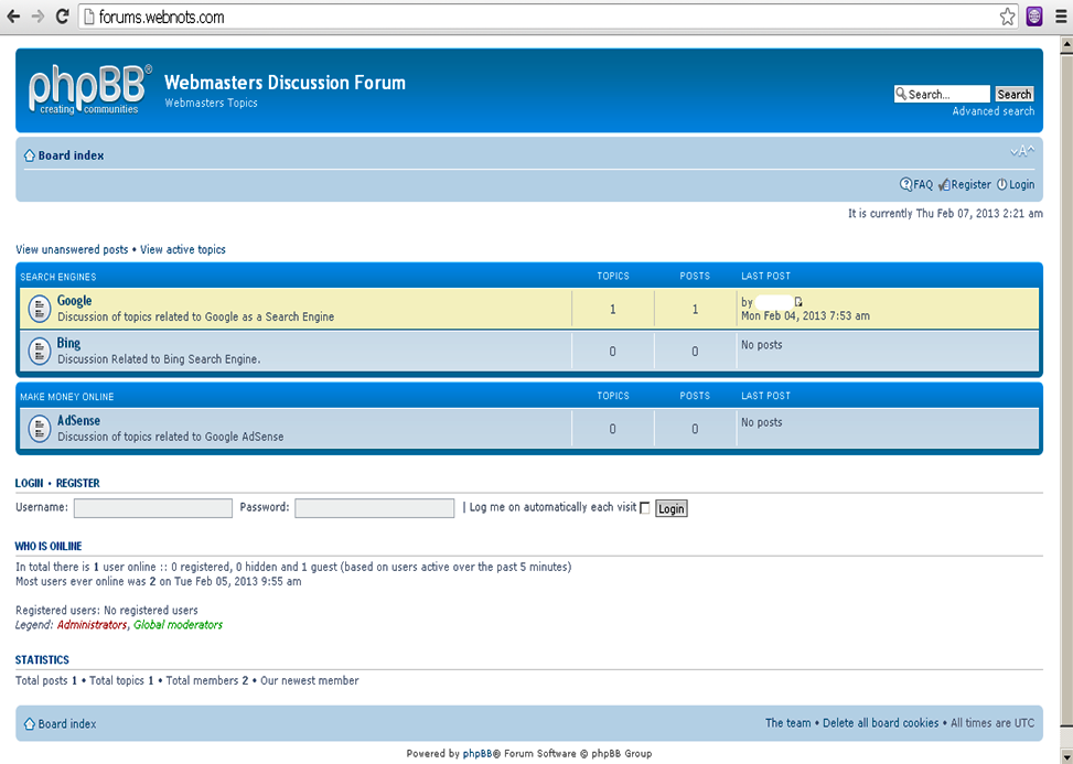 Sample phpBB Forum