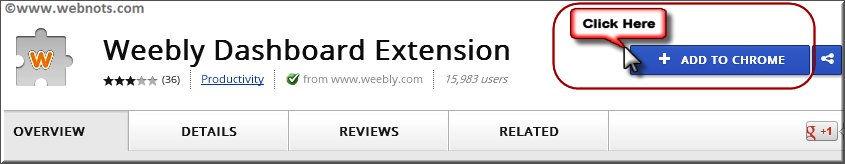 Weebly Dashboard Extension