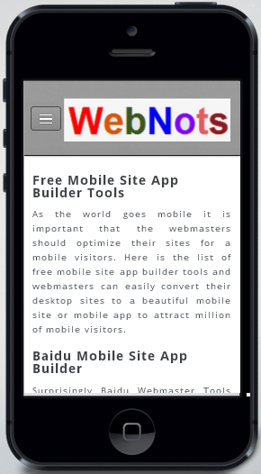 Weebly Mobile Site Adjustment