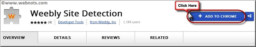 Расширение Weebly для обнаружения сайтов