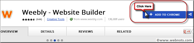 Weebly - Website Builder Chrome App