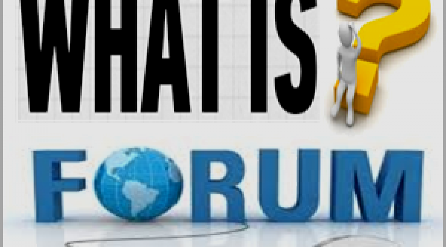 What is an Online Internet Forum Site?