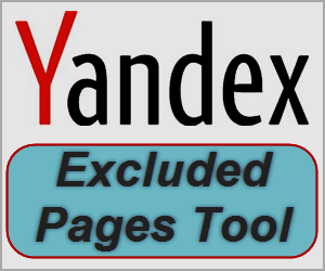 What is Excluded Pages Option in Yandex Webmaster Tools?