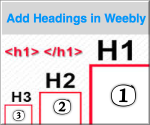 How to Add H1 to H6 Heading Tags in Weebly?