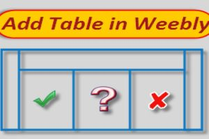 Add Table in Weebly Site