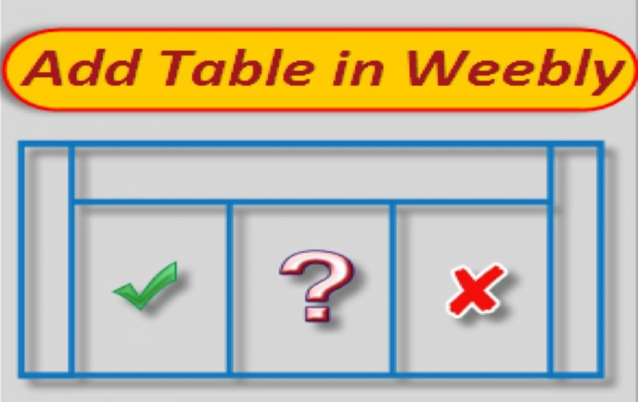 6 Ways to Add Table in Weebly Site
