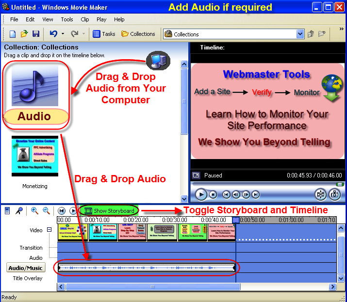 Adding Audio to Your Windows Movie Maker Video