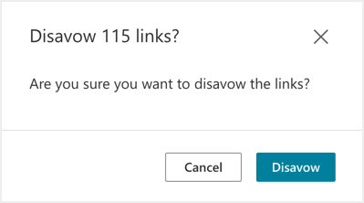 Confirm Disavow Links