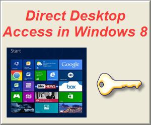 Direct Desktop Access in Windows 8