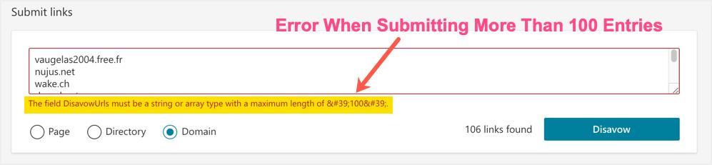 Error Submitting Details