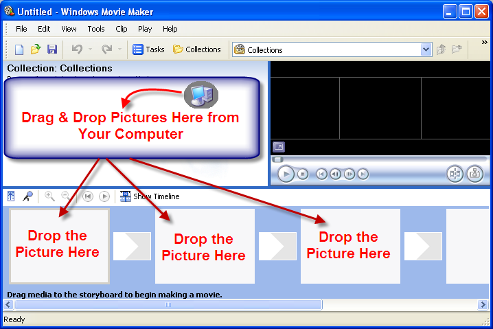 Import Pictures in Windows Movie Maker