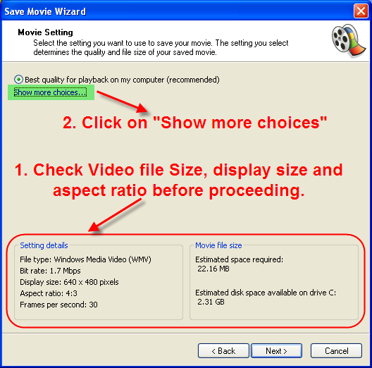 Save Modified Video in Windows Movie Maker