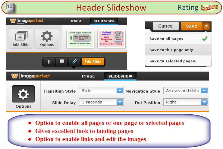 Weebly Header Slideshow Overview