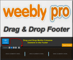 Weebly Flexible Drag and Drop Footer for Free and Pro Users