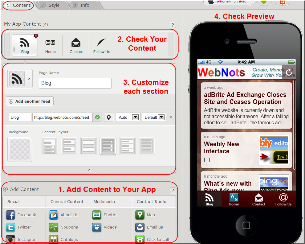 Customizing Content in Conduit Mobile App