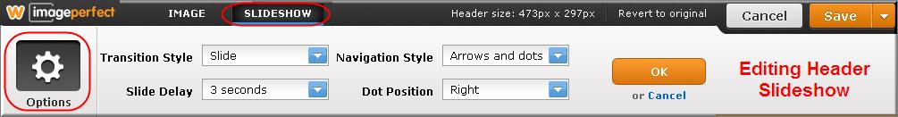 Editing Weebly Header Slideshow