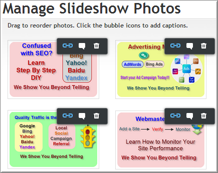 Link Option for Weebly Slideshow Images
