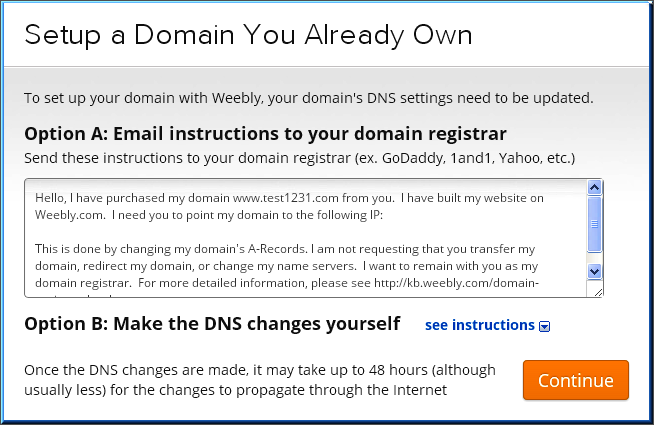 Setting Up Your Own Domain in Weebly